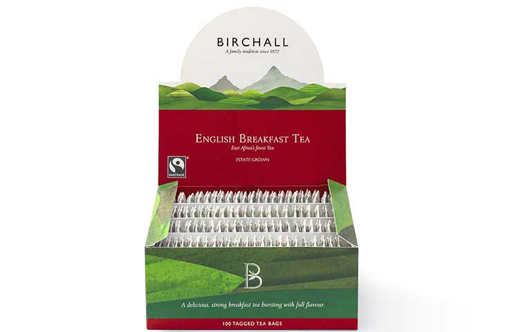 box of birchall tea bags