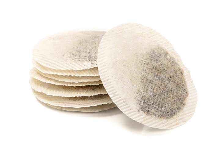 tea bags stacked