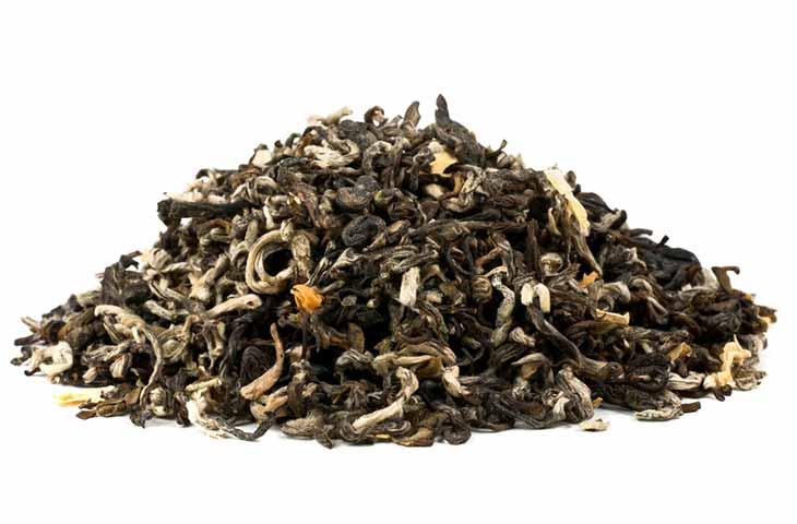 pile of flavoured black tea