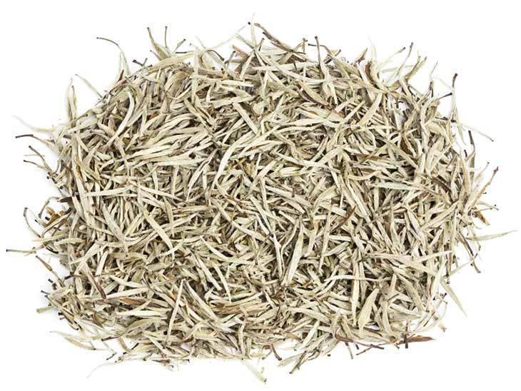 pile of white tea leaves