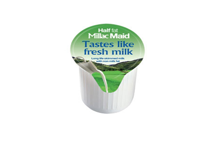 milac maid milk pot half fat green