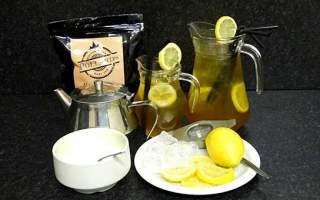 Mint and lemon iced tea.