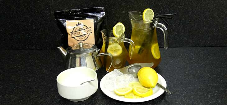 Mint and lemon iced tea.