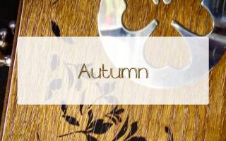 Wooden-Box-Leave-Engraving-Autumn-Leaf-Stencil-Coffee-Duster-Silver-Frame-Handles-Box-Pollards