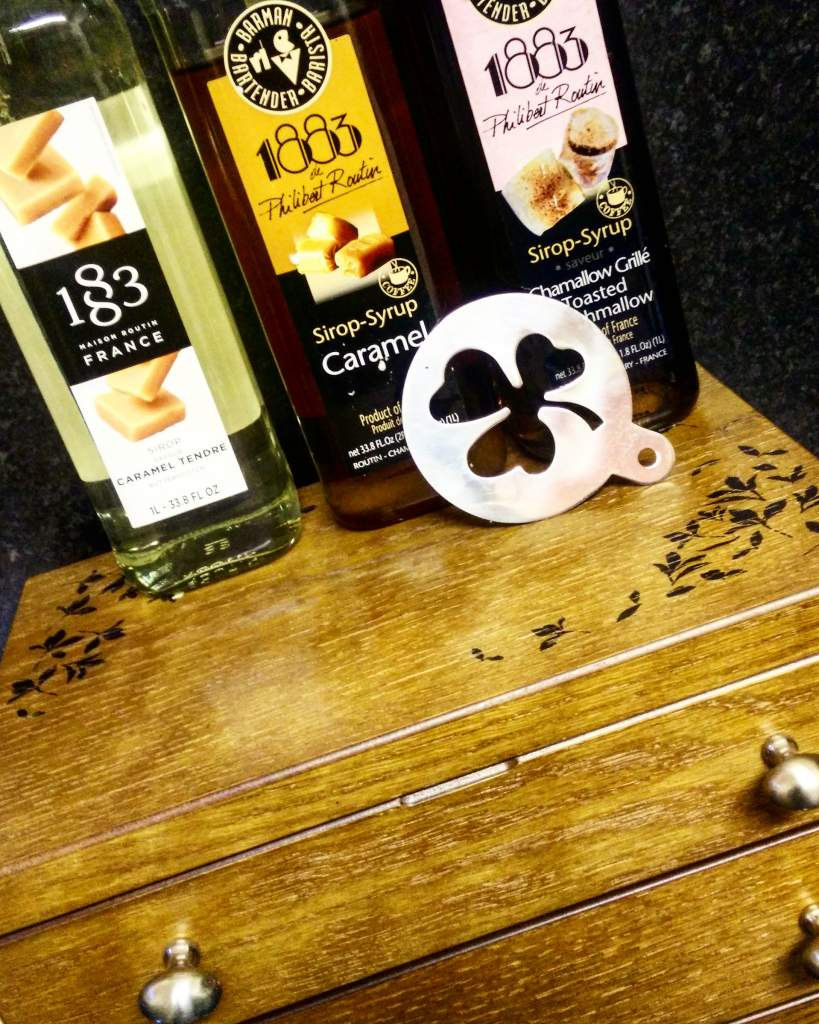 Coffee-Syrups-Displayed-At-Pollards-Autumn-Stencil