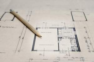 Architectural sketch plan layout design