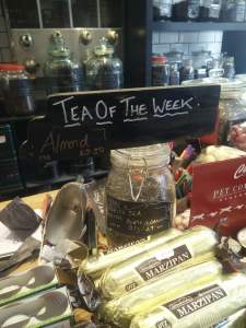 Pollards-Coffee-Shop-Ecclesall-Road-Sheffield-Yorkshire-England-Loose-Leaf-Tea-Of-The-week-special-offer-sustainable-packaging-clip-storage-alternative-to-teabags-shopfront-store-buy-local