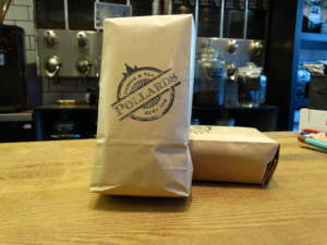 Pollards-craft-bag-packaging-brown-paper-bag-storage-coffee-tea-retail-sheffield-shop-brand-stamp-traditional-june-blog