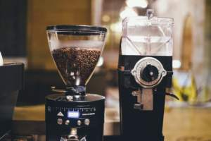 coffee-beans-grinder-two-empty-full-beverage
